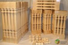 Wood-turned balusters