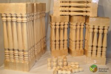 Wood-turned balusters