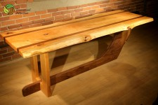 Massive table or desk – cherry and black walnut